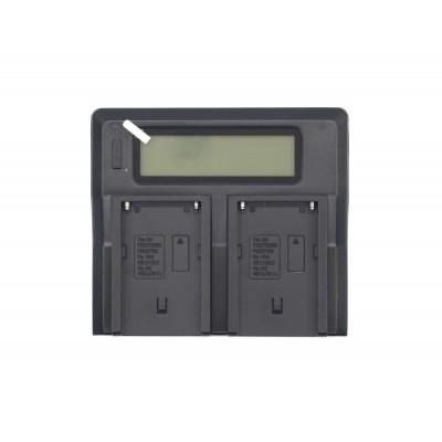 Двойное зарядное устройство для NP-F970/F960/F550