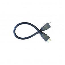 Кабель HDMI (M) - HDMI (M) круглый, 30см