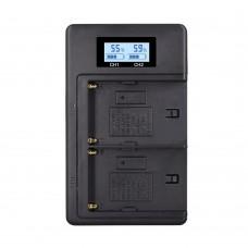 Двойное зарядное устройство USB для NP-F970/F960/F550