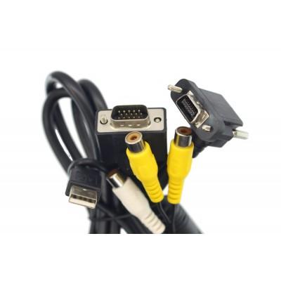 Кабель подключения Lilliput 14 pin SKS - VGA с USB + AVx2 + Audio